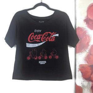 Coke | Stranger Things Skimmer Tshirt Crop Top MED
